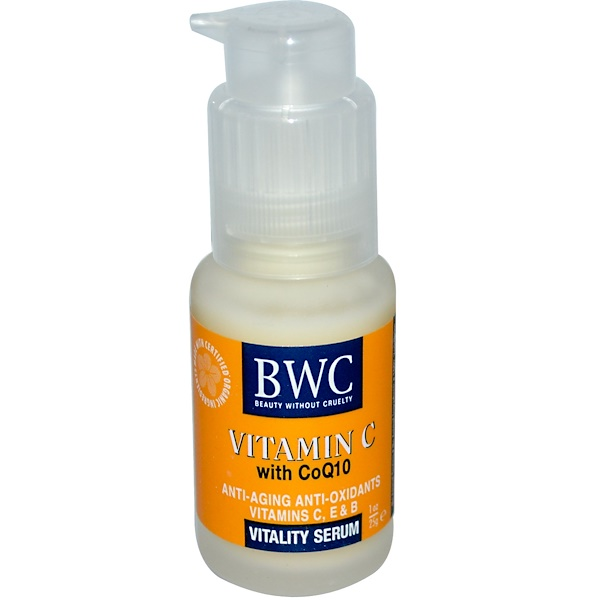 Beauty Without Cruelty, Vitamin C, With CoQ10, Vitality Serum, 1 oz (25 g)