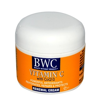 Beauty Without Cruelty, Vitamina C, con CoQ10, crema renovadora, 2 oz (56 g)