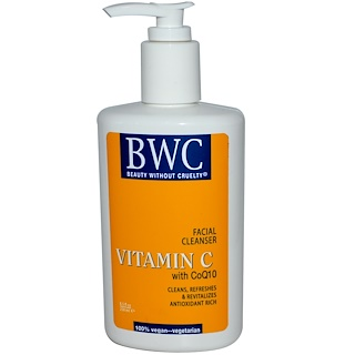 Beauty Without Cruelty, Vitamin C, With CoQ10, Facial Cleanser, 8.5 fl oz (250 ml)