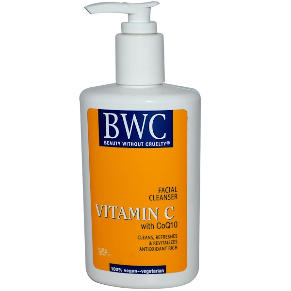 Beauty Without Cruelty, Vitamin C, With CoQ10, Facial Cleanser, 8.5 fl oz (250 ml) (Discontinued Item)