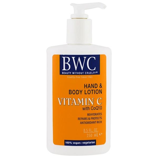 Beauty Without Cruelty, Лосьон для рук и тела, витамин С с коэнзимом Q10, 250 мл