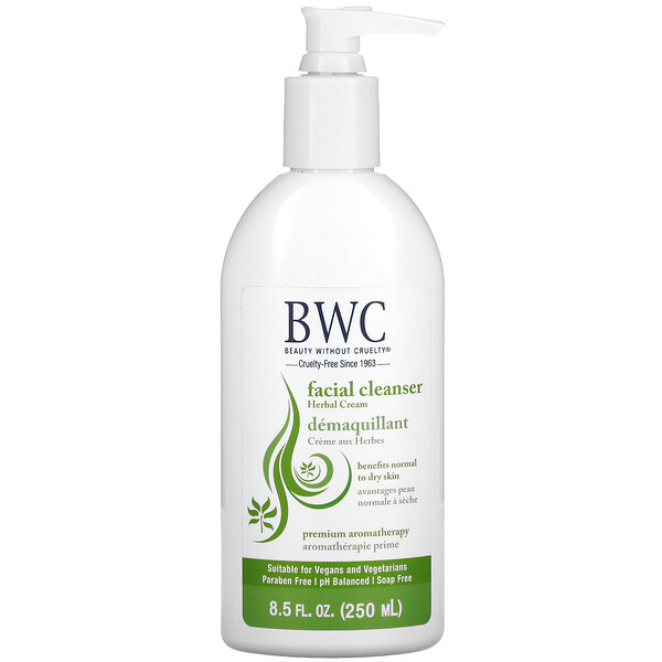 Beauty Without Cruelty, Facial Cleanser, Herbal Cream, 8.5 fl oz (250 ml) (Discontinued Item)