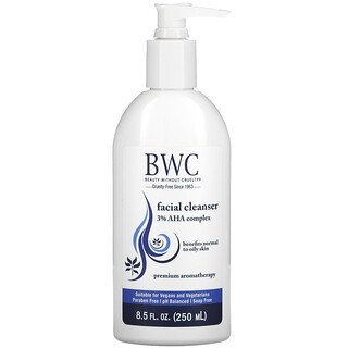 Beauty Without Cruelty, Facial Cleanser, 3% AHA Complex, 8.5 fl oz (250 ml)