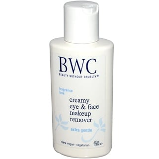 Beauty Without Cruelty, Creamy Eye & Face Makeup Remover,  4 fl oz (118 ml)