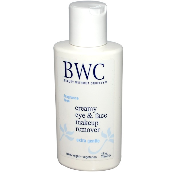 Beauty Without Cruelty, クリーミーアイ & フェイスメイクアップリムーバー、 4 fl oz (118 ml) (Discontinued Item)