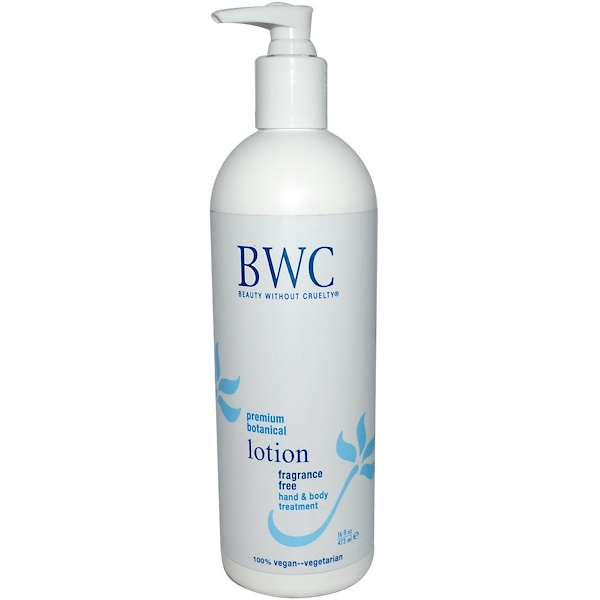 Beauty Without Cruelty, Fragrance Free Lotion, 16 fl oz (473 ml)