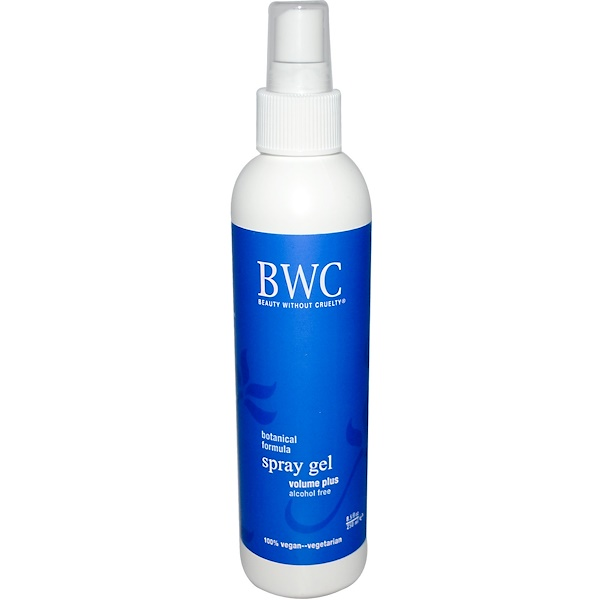 Beauty Without Cruelty, Spray Gel, Volume Plus, Alcohol Free, 8.5 fl oz (250 ml) (Discontinued Item)