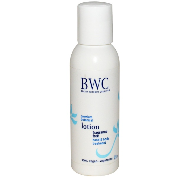 Beauty Without Cruelty, Hand & Body Treatment Lotion, Fragrance Free, 2 fl oz (59 ml) (Discontinued Item)
