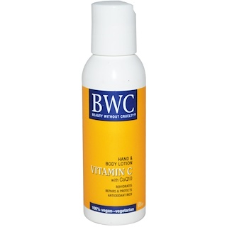 Beauty Without Cruelty, Vitamin C, With CoQ10, Hand & Body Lotion, 2 fl oz (59 ml)