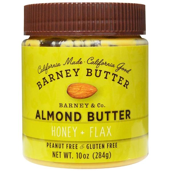 Barney Butter, Almond Butter, Honey + Flax, 10 oz (284 g) (Discontinued Item)