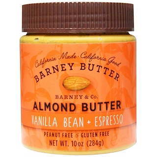 Barney Butter, Almond Butter, Vanilla Bean + Espresso, 10 oz (284 g)