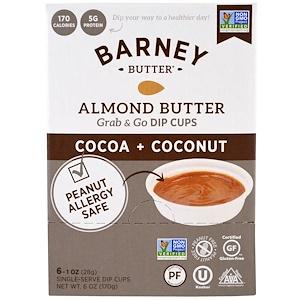 Барни Баттер, Almond Butter, Grab & Go Dip Cups, Cocoa + Coconut, 6 Single-Serve Dip Cups, 1 oz (28 g) Each отзывы