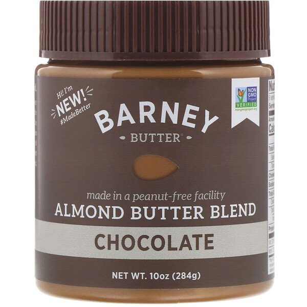 Barney Butter, Barney Butter, Almond Butter Blend, Chocolate, 10 oz (284 g)