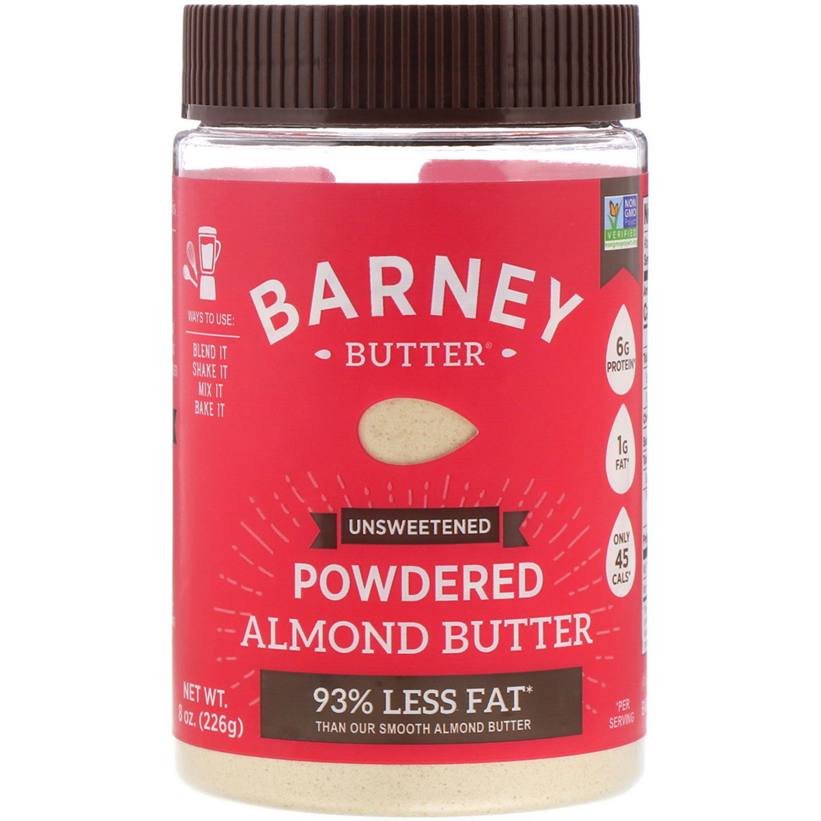 Barney Butter, Powdered Almond Butter, Unsweetened, 8 oz