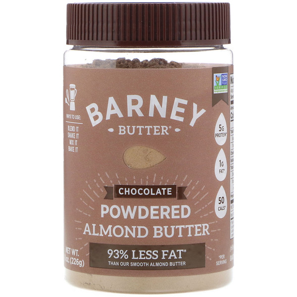 Barney Butter, Powdered Almond Butter, Chocolate, 8 oz (226 g) (Discontinued Item)