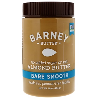 Barney Butter, Bare Almond Butter, Smooth, 16 oz (454 g)