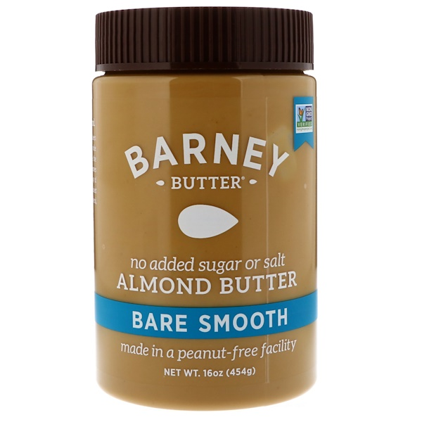 Barney Butter, 皮むきアーモンドバター、スムース、 16 オンス (454 g) (Discontinued Item)