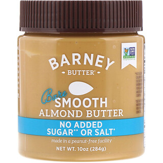 Barney Butter, Almond Butter, Bare Smooth, 10 oz (284 g)