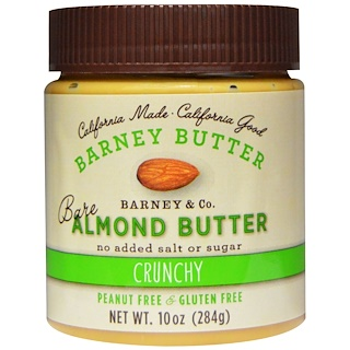 Barney Butter, Bare Almond Butter, Crunchy, 10 oz (284 g)