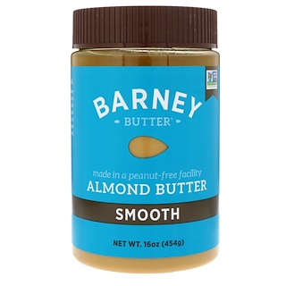 Barney Butter, Almond Butter, Smooth, 16 oz (454 g)