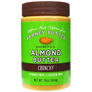 Barney Butter, Almond Butter, Crunchy, 16 oz (454 g)