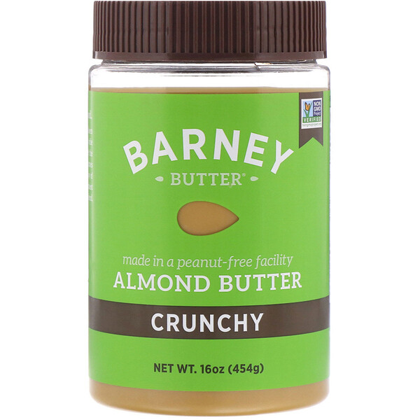 Almond Butter, Crunchy, 16 oz (454 g)