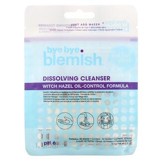 Bye Bye Blemish, Dissolving Cleanser, Witch Hazel Oil-Control Formula, 50 Sheets, 0.01 oz (0.3 g)
