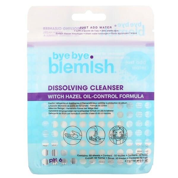 Dissolving Cleanser, Witch Hazel Oil-Control Formula, 50 Sheets, 0.01 oz (0.3 g)