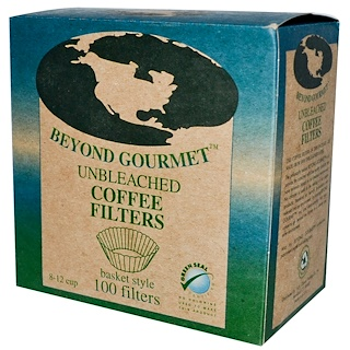 Beyond Gourmet, Unbleached Coffee Filters, Basket Style, 100 Filters