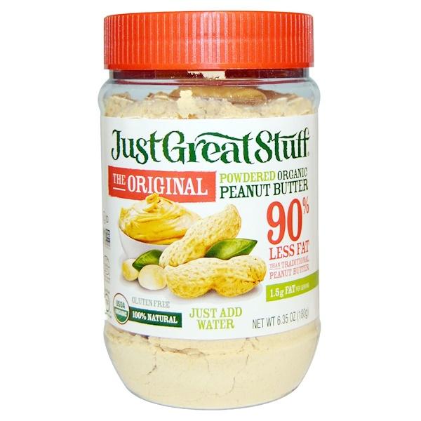 Betty Lou's, Beurre de cacahuètes bio en poudre, l'original – tout simplement génial ; 180 g