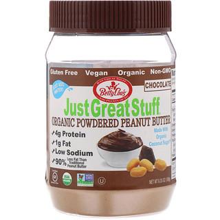 Betty Lou's, Just Great Stuff, Organic Powdered Peanut Butter, Chocolate, 6.35 oz (180 g)