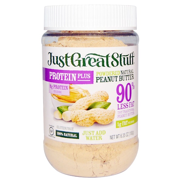 Betty Lou's, Just Great Stuff, Protein Plus, Powdered Natural Peanut Butter, 6.35 oz (180 g) (Discontinued Item)