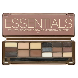 BYS, Essentials, Contour, Brow & Eyeshdow Palette, 15 g