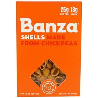 Banza, Shell Chickpeas, Pasta, 8 oz (227 g)