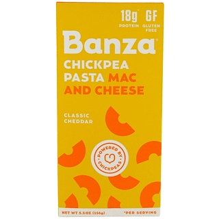 Banza, Classic Cheddar Mac and Cheese Elbows, 5.5 oz (156g)