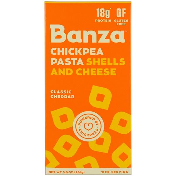 Banza, Макаронные изделия из нута с сыром, классический чеддер, 156 г (5,5 унции) (Discontinued Item)