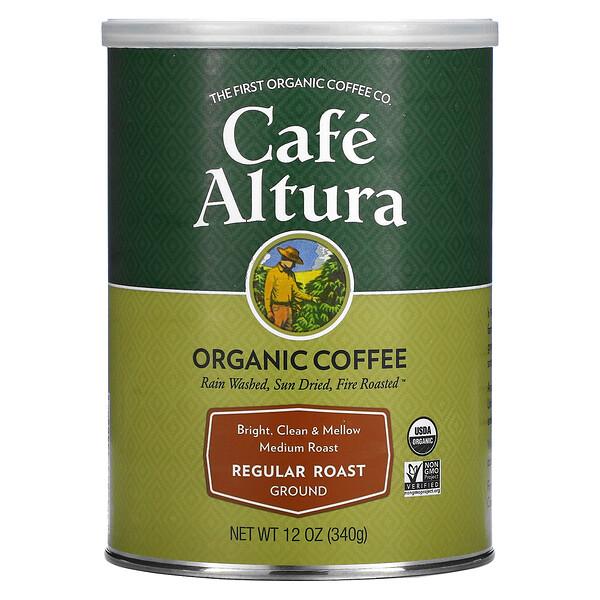 Organic, Regular Roast, Medium Roast, Ground, 12 oz (340 g)