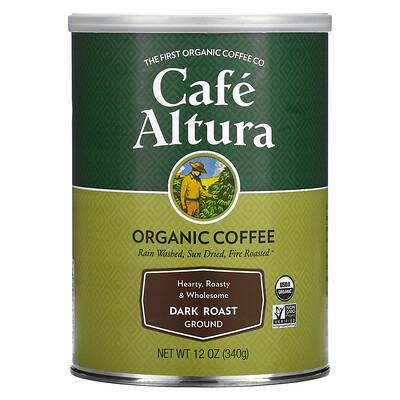 Купить Cafe Altura Organic, Dark Roast, Ground, 12 oz (340 g)
