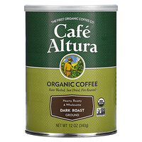 Cafe Altura, Organic Coffee, Dark Roast, Ground, 12 oz (340 g)