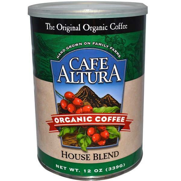 Cafe Altura, Organic Coffee, House Blend, 12 oz (339 g)