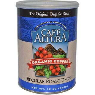 Cafe Altura, オーガニック コーヒー、 レギュラーロースト カフェインレス、 12 oz (339 g)