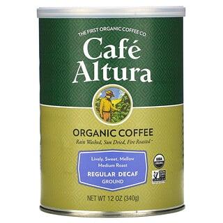 Cafe Altura, Organic Coffee, Regular Decaf, Ground, Medium Roast, 12 oz (340 g)