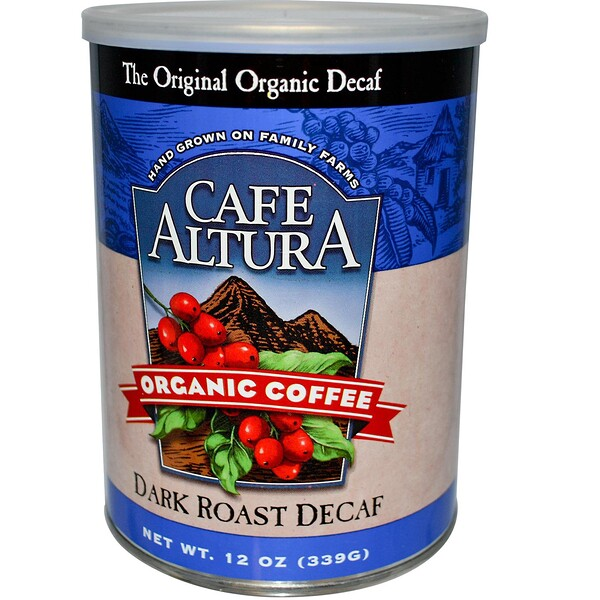 Cafe Altura, Organic Coffee, Dark Roast, Decaf, 12 oz (339 g)