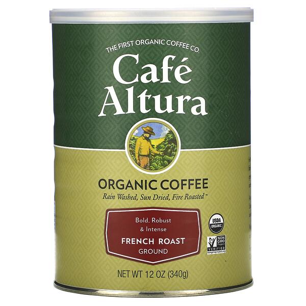 قهوة عضوية، فرنسية محمصة، 12 أونصة (339 غ)