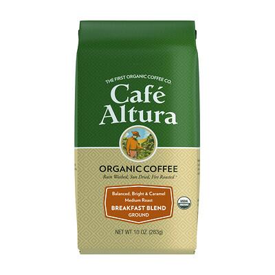Купить Cafe Altura Organic Coffee, Breakfast Blend, Medium Roast, Ground, 10 oz (283 g)