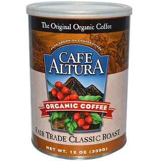 Cafe Altura, オーガニックコーヒー, フェアトレード・クラシックロースト, 12 オンス (339 g)