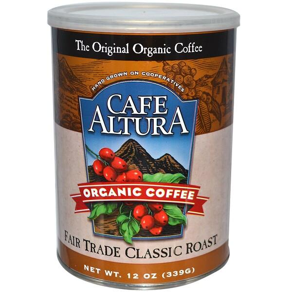 Cafe Altura, Organic Coffee, Fair Trade Classic Roast, 12 oz (339 g) (Discontinued Item)
