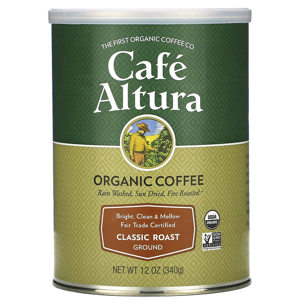 Organic Coffee, Classic Roast, Ground, 12 oz (340 g)