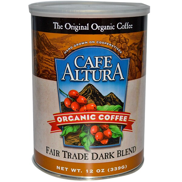Cafe Altura, Organic Coffee, Fair Trade Dark Blend, 12 oz (339 g)