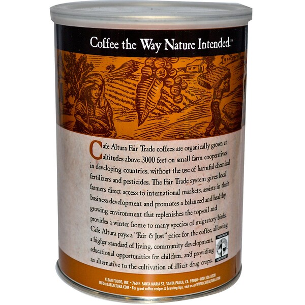 Cafe Altura, قهوة عضوية، خليط داكن خاضعة للتجارة العادلة، 12 أونصة (339 غ)